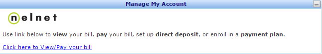 MyCampus NelNet Direct Deposit Link